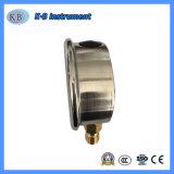 """2.5 """" manometro riempito liquido Premium dell'acciaio inossidabile di Y63 63mm"""