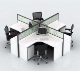 Stazione di lavoro bianca moderna con lo scaffale da tavolino per quattro genti (SZ-WS319)