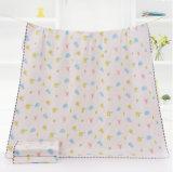 高品質Customeは綿モスリンの綿の赤ん坊毛布を作った