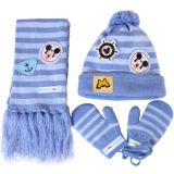 La promoción de los Niños Invierno tejido acrílico Sets (gorro, bufanda, guantes) con solicitud de OEM