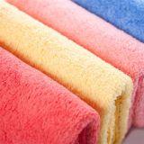 Borde de satén Color sólido Hotel algodón Toallas Toalla