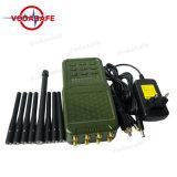 Hanheld 8 canales de alta potencia celular 2G 3G 4G GSM señal CDMA Radio GPS WiFi Jammer Lojack, 3G 4G Celular, Lojack 173MHz, RC433/315MHz Jammer GPS