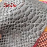 Cuoio del Faux del reticolo del serpente di colore di tono due per la borsa