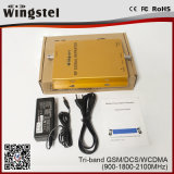Tri-banda GSM / DCS / WCDMA repetidor de la señal para el teléfono móvil inteligente