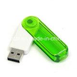 da movimentação plástica da pena de 128g USB3.0 movimentação transparente do flash do USB
