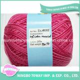 중국 공급자 고강도 소모사 100%년 면 손 뜨개질을 하는 털실