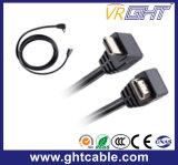 5 м по прямой угол высококачественный кабель HDMI с полихлорвиниловая оболочка