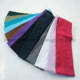 Fascia elastica di yoga di colore solido degli accessori dei capelli di prezzi bassi in azione