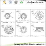 Dissipatore di calore di alluminio quadrato dell'espulsione di profilo