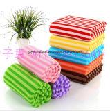 Yarn-Dyed 색깔 줄무늬 Microfiber 깨끗한 수건