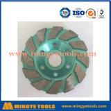 Het speciale Wiel van de Kop van het Ontwerp Turbo/Malend Wiel voor Marmer en Graniet