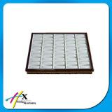 Cassetto di legno personalizzato della visualizzazione dei monili con il rivestimento del velluto