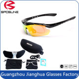 2016 le meilleur lunettes de soleil polarisées de vision nocturne de noir de lentille de vente par bâti imperméable à l'eau anti-déflagrant pour le recyclage de pêche