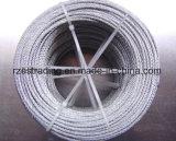 7*19 4.0mmは鋼線ロープに電流を通した