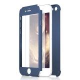 Lujo caso de la cubierta completa de 360 grados para SE 6 6s del iPhone 5 7 más con el vidrio Tempered