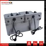 Machine électrique professionnelle de friteuse de pommes chips du réservoir 13L jumeau en vente