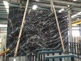 La fabbrica direttamente fissa il prezzo del controsoffitto di marmo nero italiano di Nero con le vene bianche