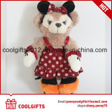 Brinquedo enchido do urso 14cm da peluche da venda luxuoso Pendent encantador quente, Keychain