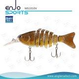 多重セクション釣リアルな魅惑の低音の餌のSwimbaitの浅い釣用具釣魅惑