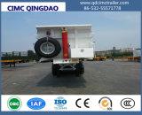 Cimcは2つのAxles/3車軸プラットホームの後部ダンプのセミトレーラー広くトレーラトラックシャーシを半ダンプする
