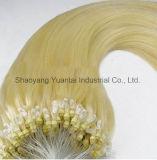 Micro extensão tingida do cabelo humano do laço/anel