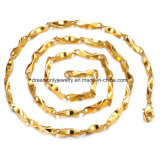 Encadenamiento de la Armadura del Oro Amarillo de la Joyería de la Manera, Collar del Material de la Aleación de Cobre