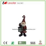 Figurine decorativo di Polyresin Santa con la lanterna per la decorazione di natale