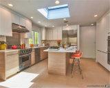 Gabinete de cozinha personalizado da melamina do projeto simples