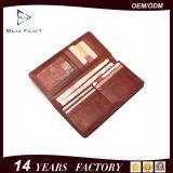 Portefeuilles van Mens van het Leer van het Embleem van de Douane van de Prijs van de Levering van de fabriek de Goedkope Echte