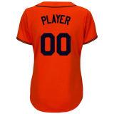Camiseta alterna baja fresca anaranjada de las mujeres