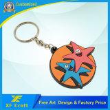 Corrente chave personalizada de borracha de PVC customizada para presente Sovenir (XF-KC-P43)