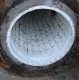 Tubo d'acciaio rivestito di ceramica dell'allumina bianca di 92%