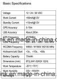 GPS WCDMA van Hiden de Mini3G Waterdichte besnoeiing-Olie van het Voltage van de Drijver Brede door Relais (TK119-3G)