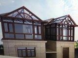 O Sunroom vitrificado frame da liga de alumínio da alta qualidade, Sunhouse pré-fabricou