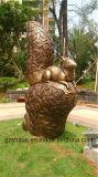 Écureuil de bronze, décoration en résine de résine de jardin extérieur ou en polyrésine