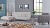 Sofá moderno de la tela de los muebles del sofá casero de la sala de estar fijado (HC095)