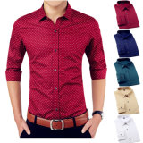 Hommes Luxe Décontracté Slim Fit Long Sleeve Casual Shirts