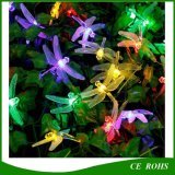 30 LED 6m Dragonfly Solar Power String Lights Lâmpada impermeável para interior ao ar livre