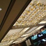 レストランのための壊されたカラーペンダント灯をハングさせる装飾的なガラス