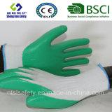 interpréteur de commandes interactif du polyester 13G avec les gants de travail enduits par nitriles (SL-N107)