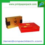 Rectángulo de empaquetado del papel revestido de la suposición del regalo de encargo de la joyería
