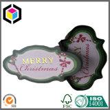 Glatte Farben-Dreieck-Pappschmucksache-Papierverpackenkasten für Weihnachten