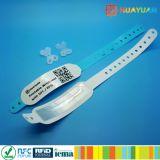 Bracelet imprimable d'IDENTIFICATION RF du vinyle 1K classique mou ÉLEVÉ du sercurity MIFARE pour le bracelet d'identification d'hôpital