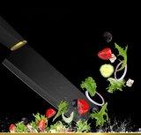 中国の工場余分鋭いマットの黒い陶磁器のシェフの包丁のナイフ