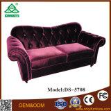 Ultimo sofà della mobilia di svago della sede di disegno due del sofà del salone con il blocco per grafici di legno