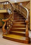 Escaleras naturales del interior de madera sólida del estilo chino