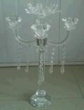 De Houder van de Kaars van het kristal voor de Decoratie van het Huwelijk met Affiche Zeven