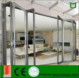 Portas Bi-Fold do perfil de alumínio do material de construção com certificado do Ce