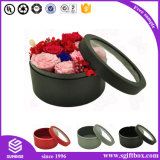 Rose Waterproof Round Tube Flower Paper Packaging Boîte cadeau