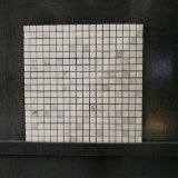 Baño populares Carrara blanca de mármol del azulejo mosaico de vidrio (MS-638)